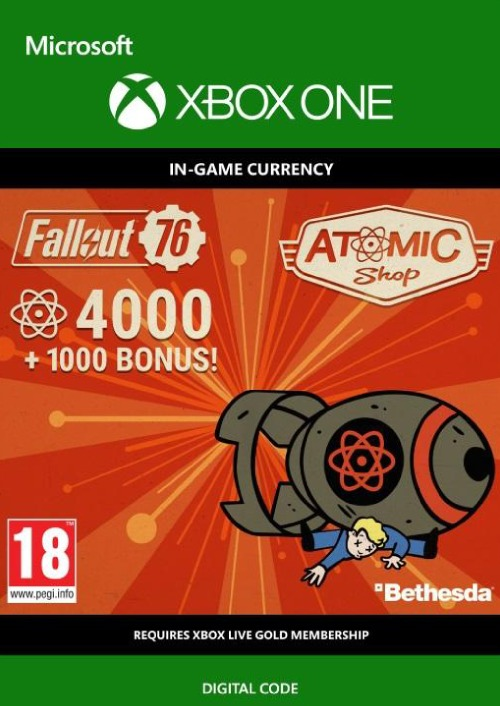 Fallout 76 5000 Atoms Xbox One
