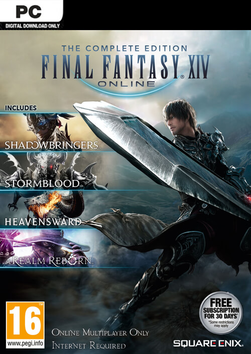 Final Fantasy XIV 14 Online Complete Edition Inc. Shadowbringers PC key