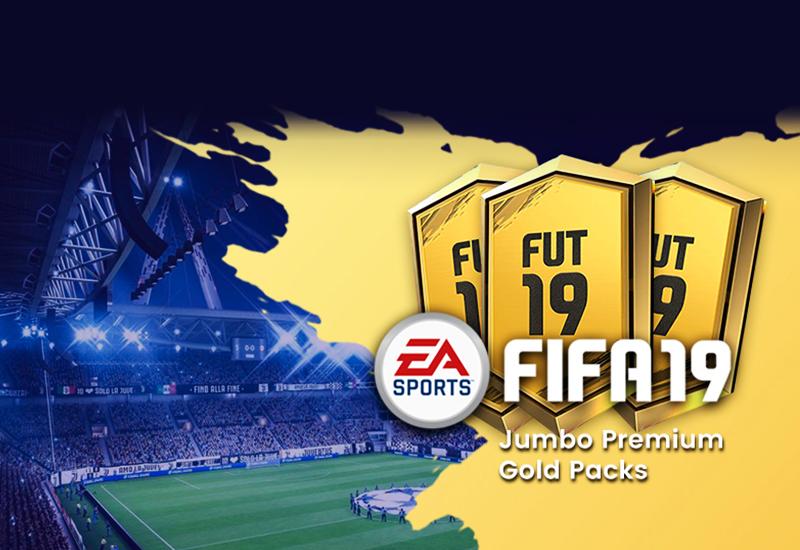 FIFA 19 - Jumbo Premium Gold Packs DLC PS4 billig Schlüssel zum Download