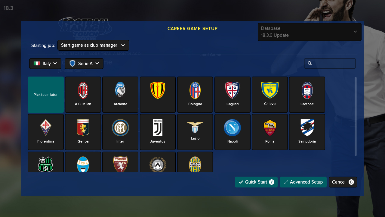 Football Manager (FM) Touch 2018 Switch cheap key to download