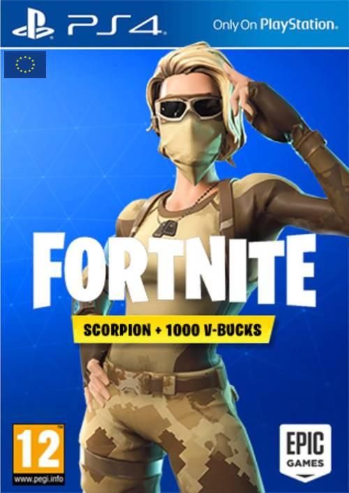 Fortnite Scorpion Skin + 1000 V-Bucks PS4 (EU) key