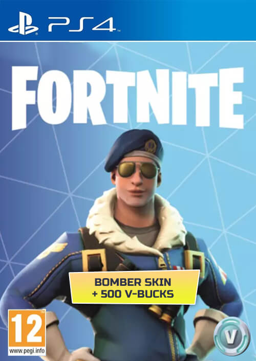 Fortnite Bomber Skin u. 500 V-Bucks PS4