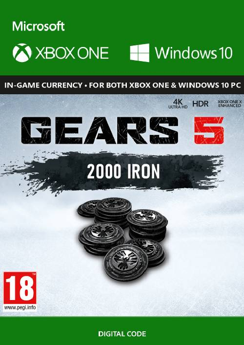 Gears 5: 2000 Iron + 250 Bonus Iron Xbox One key