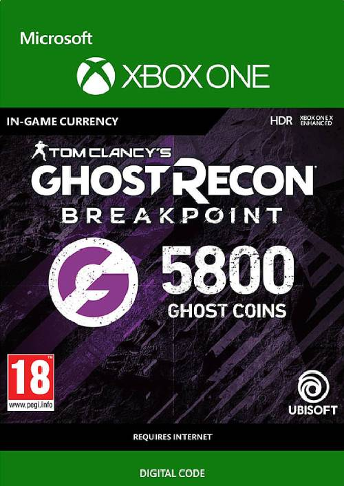 Ghost Recon Breakpoint: 5800 Ghost Coins Xbox One key