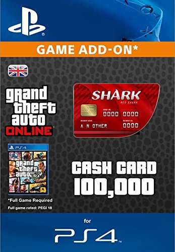 GTA Online Cash Gamecard Red Shark PS4