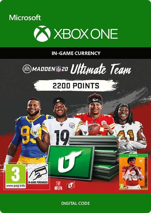 Madden NFL 20 2200 MUT Points Xbox One key