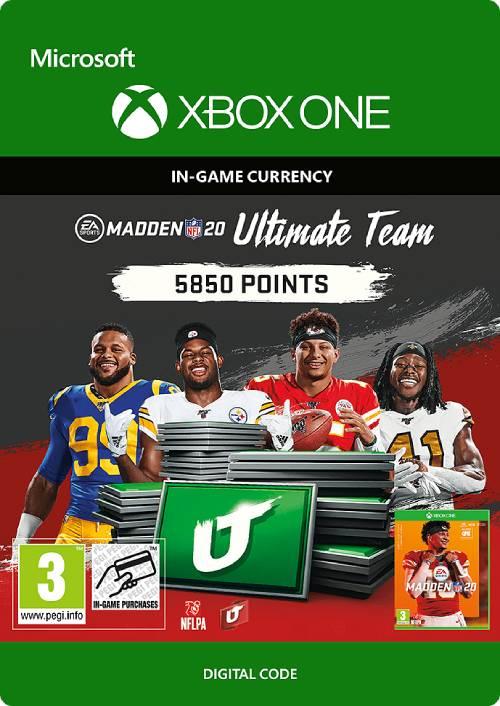 Madden NFL 20 5850 MUT Points Xbox One key
