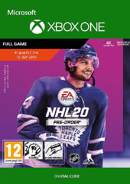NHL 20: Standard Edition Xbox One key