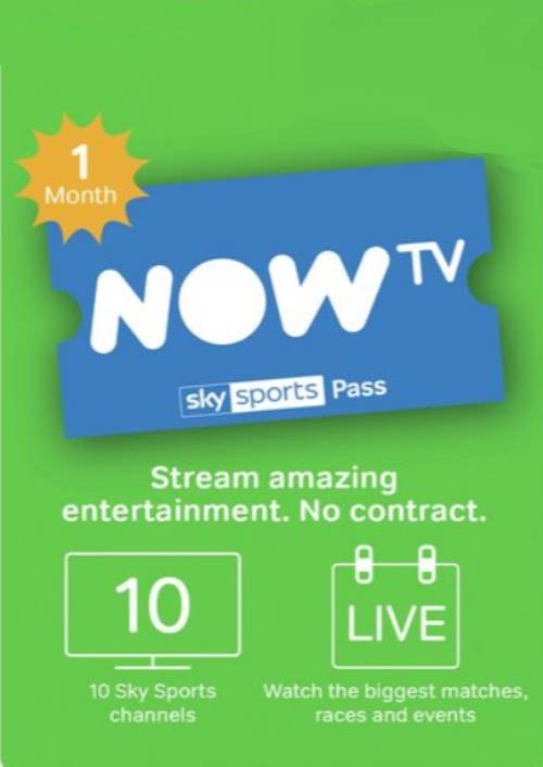 NOW TV - 1 Month Sports Pass key
