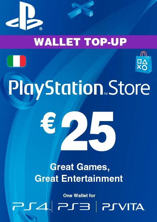 Playstation Network (PSN) Card - 25 EUR (Italy) key