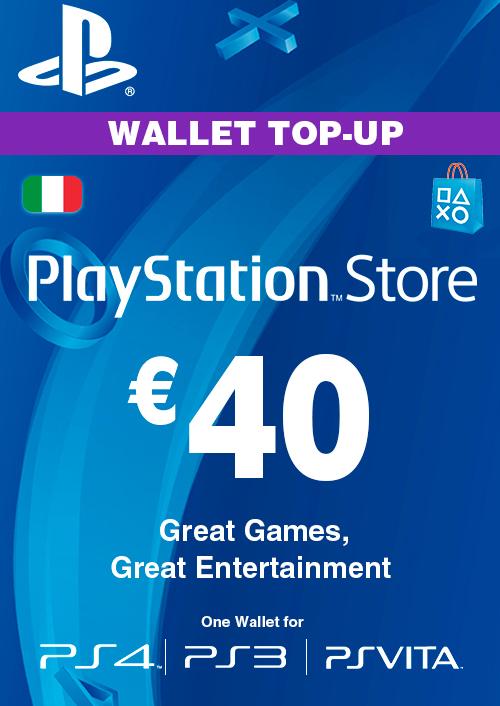 Playstation Network (PSN) Card - 40 EUR (Italy) key