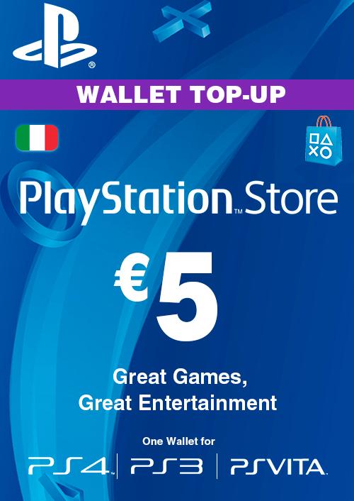 Playstation Network (PSN) Card - 5 EUR (Italy) key