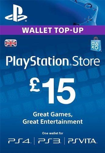 PlayStation Network Card - £15 (PS Vita/PS3/PS4) cheap key to download