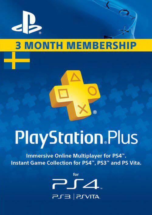Playstation Plus - 3 Month Subscription (Sweden) key
