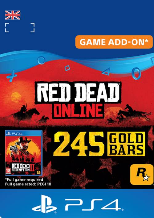 Red Dead Online: 245 Gold Bars PS4 (UK) key
