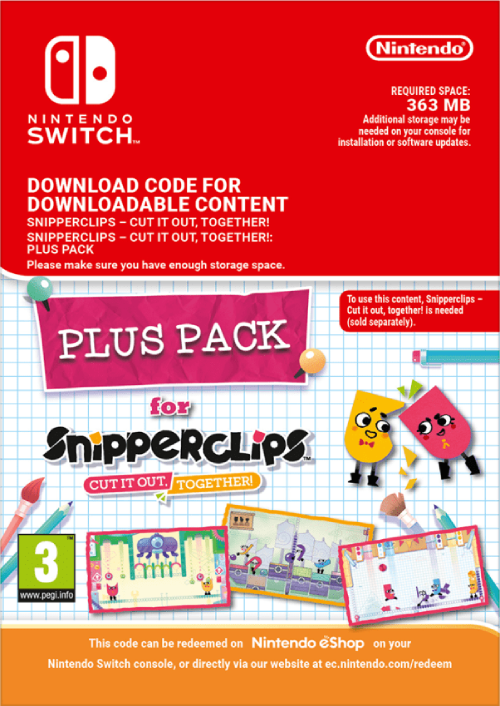 SnipperClips Cut It Out Together Plus Pack Nintendo Switch