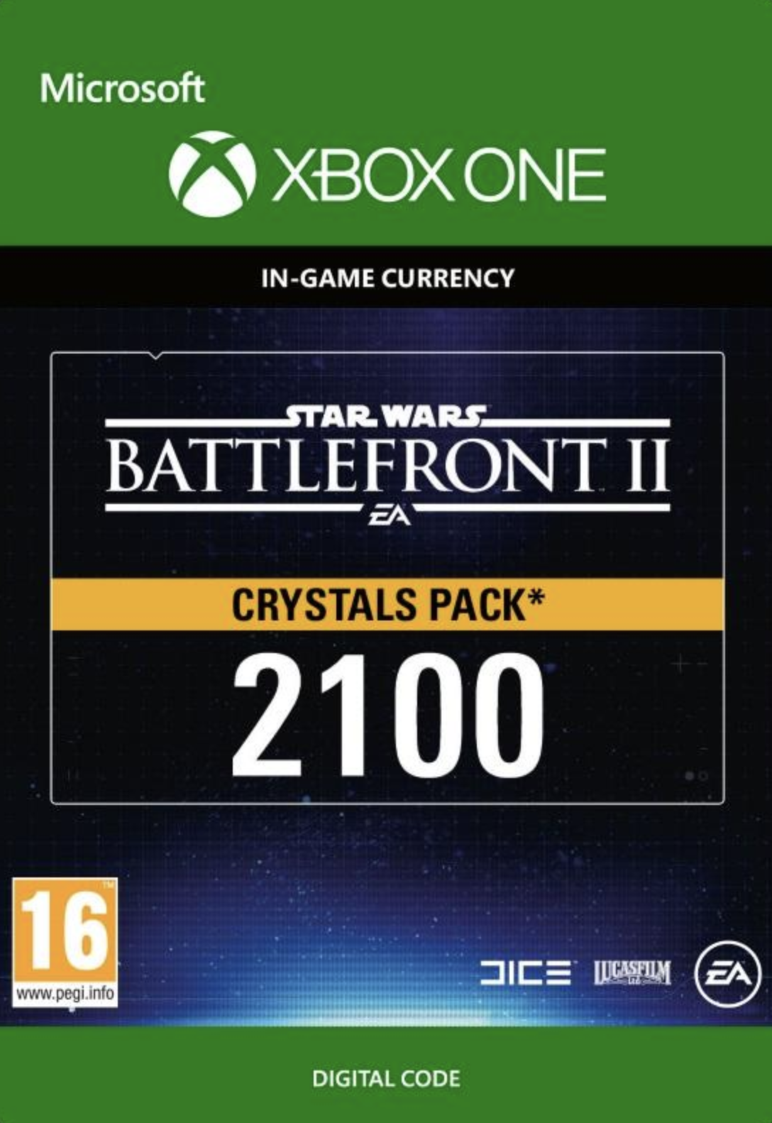 Star Wars Battlefront 2: 2100 Crystals Xbox One