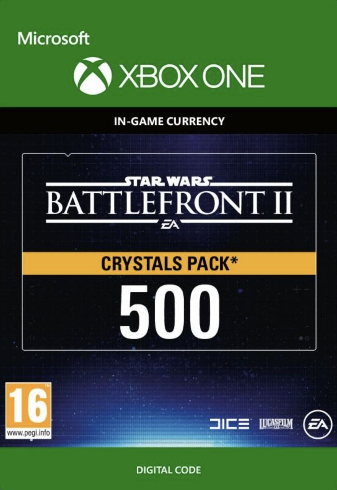 Star Wars Battlefront 2: 500 Crystals Xbox One