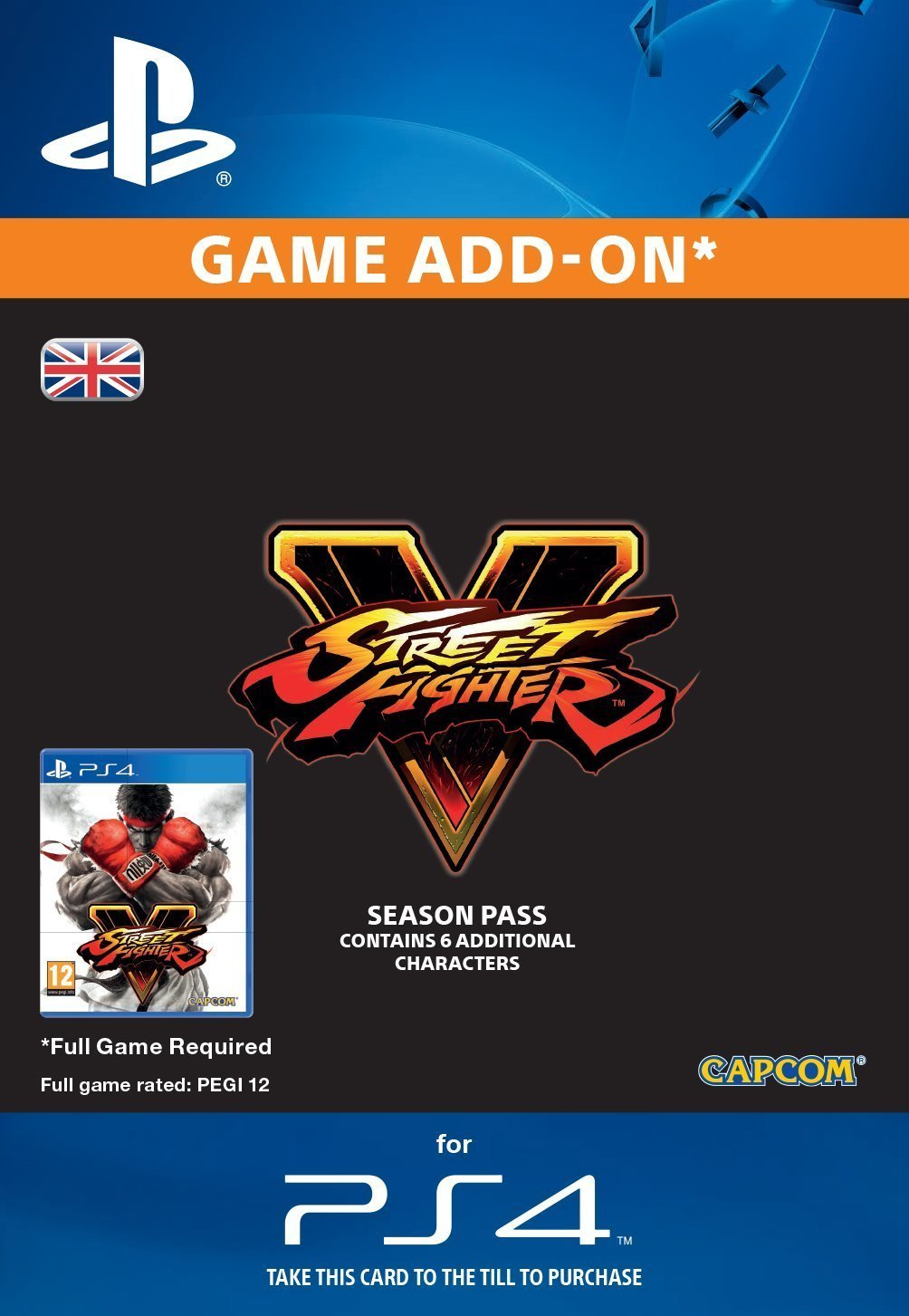 Street Fighter 5 2016 Season Pass PS4