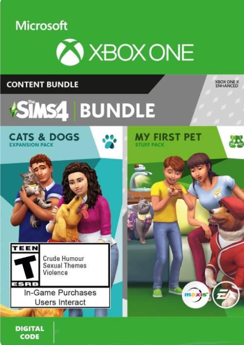 Die Sims 4 Cats and Dogs u. My First Pet Stuff Bundle Xbox One
