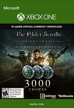 The Elder Scrolls Online Tamriel Unlimited 3000 Crowns Xbox One - Digital Code