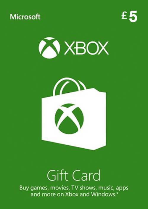 Microsoft Gift Card - £5 (Xbox One/360)