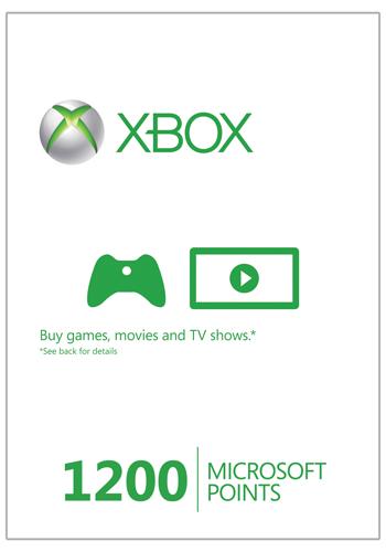 Xbox Live 1200 Microsoft Points (Xbox 360) cheap key to download